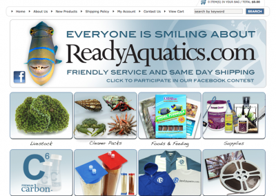 Ready Aquatics E-Commerce Web Site Design