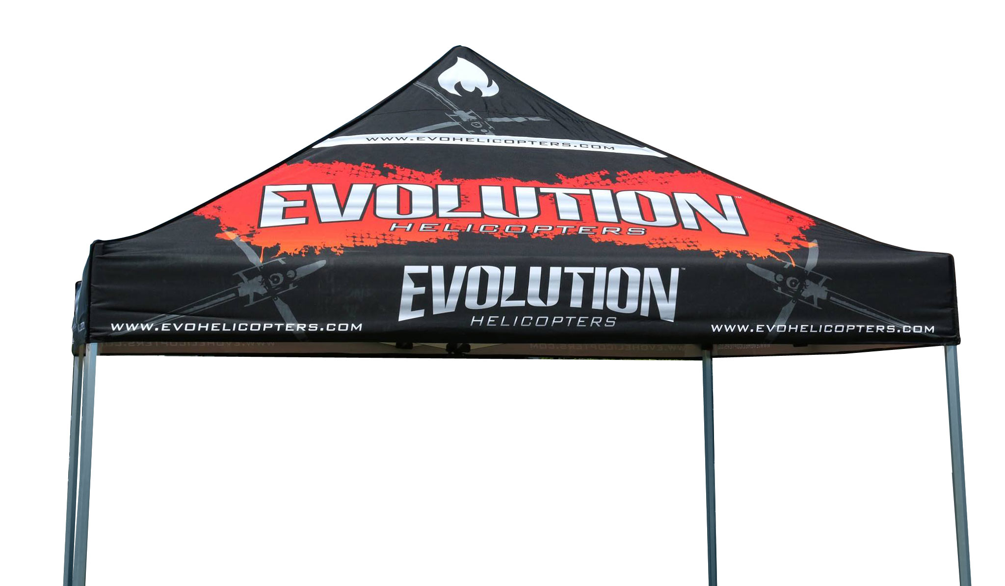 Evoloution Helicopters Pop Up Tent Design Amplified™ Graphic Design Services provided this eye catching handsome canopy for the Evolution Helicopters ...  sc 1 st  Amplified Graphic Design Services & Evolution Helicopters Promotional Tent Design - Amplified™ Graphic ...