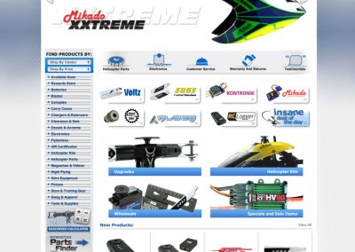 ReadyHeli E Commerce Website Design