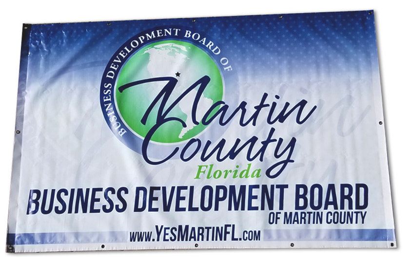 Business Development Board of Martin County Vinyl Banner